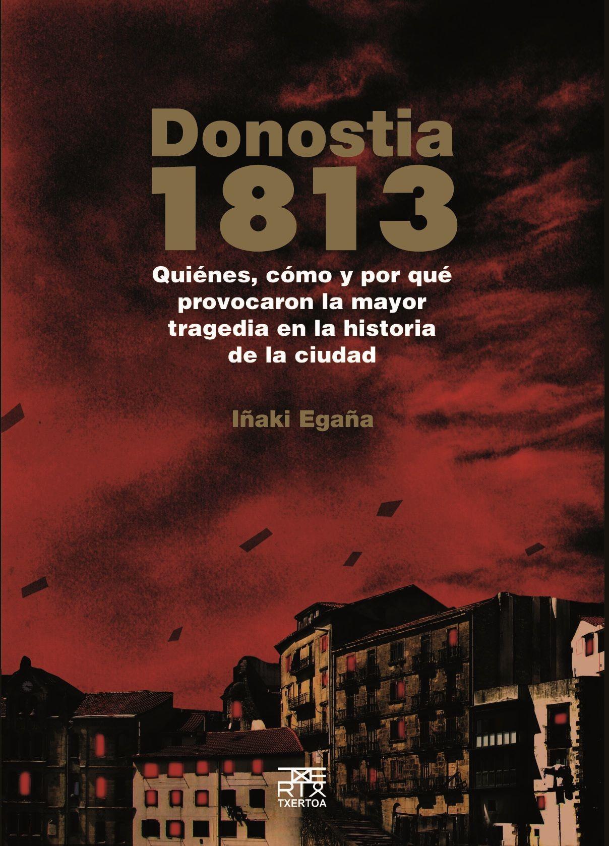 """""""Donostia 1813"""" liburuaren azala."""