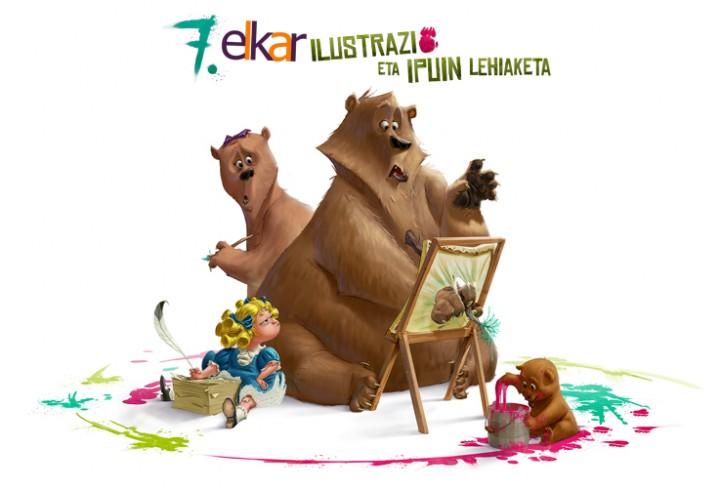 7. elkar Ilustrazio eta Ipuin Lehiaketako tailerra. Haurrentzako tailerra.