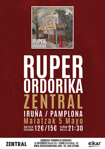 Ruper Ordorika - Iruñeako Zentral-eko kontzertuaren prentsaurrekoa