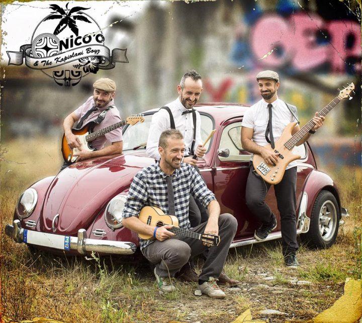 Nico'o  &  the  Kapilonia  Boyz.  Lagin  akustikoa  +  sinaketa.