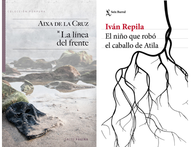"""Aixa  de  la  Cruz  """"La  línea  del  frente""""  +  Ivan  Repila  """"El  niño  que  robó  el  caballo  de  Atila""""  Tertulia."""