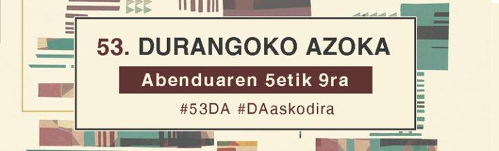 53  DA!  –  Abenduak  9,  agenda