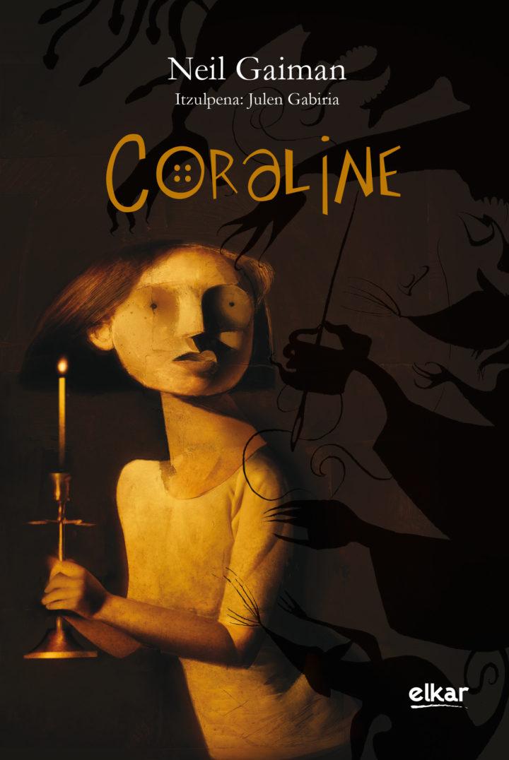 """""""Coraline"""",  Neil  Gaiman.  Itzulpena:  Julen  Gabiria.  Prentsaurrekoa"""