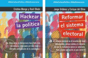 Cristina Monge / Raúl Oliván 'Hackear la política' eta Jorge Urdánoz / Enrique del Olmo 'Reformar el sistema electoral' Presentación de libro @ elkar Aretoa Gasteiz (San Prudencio 7)